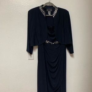 Mother of bride Navy dress size 18W